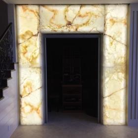 Backlit Wine Room Entry